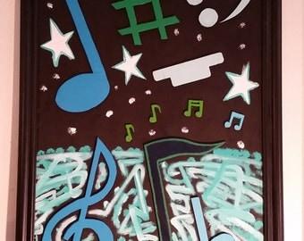 "music foamcore cutouts 23""x35"""