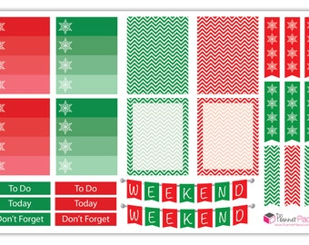 1 Sheet of Christmas / Holiday Planner Stickers — Printed, Kiss Cut, and Ready for Planning!