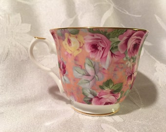 Reduced Price Fine bone china, made in England, pink tea cup without saucer
