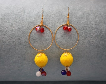 Hand Made Dangle and Drop Earrings