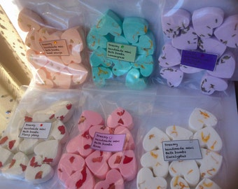 Aromatherapy mini bath bombs (x5) gift , pamper, wedding favours,hen party,  baby showers , bulk order