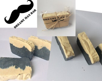 Handmade Soap For him . Dreamy Man . Soap slice. Shea butter Natural, Gift , Valentines day Guinness Fragrance