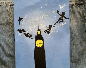 Off to Never Never Land - Peter Pan Jean Jacket