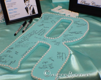 Large Wood Letter - Wedding Guest Book