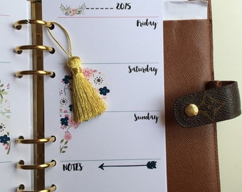 Gold Small Tassel Pendant Planner Accessory