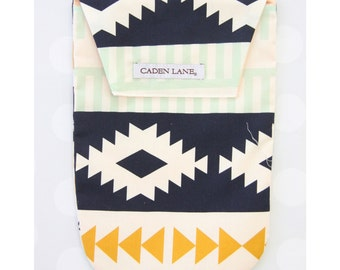 Aztec | Mint and Gold Diaper and Wipe Holder