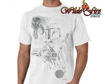 Men's Boba Fett T Shirt - Signer by Jeremy Bulloch (Star Wars)