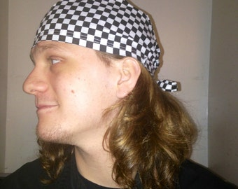 Checkerboard scrub /chef hat