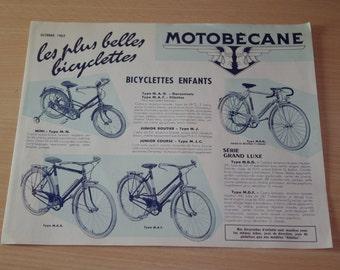 Brochure MOTOBECANE bicycle 1963