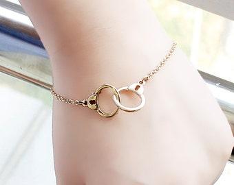 Dainty Handcuff Gold Bracelet