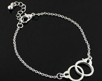 Dainty Handcuff Silver Bracelet