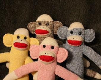 Traditional Sock Monkey Family