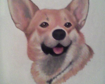 Pet Portrait of My Corgi - sample