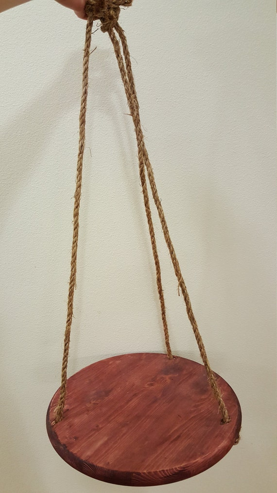Hanging Wooden Flower Pot Holder