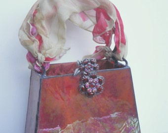 Glass vintage jewels Handbag - Simply Red