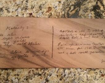 Family Recipe Board