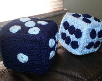 Crochet Fuzzy Dice Pattern