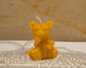 Honey Bear - 100% Beeswax Candle