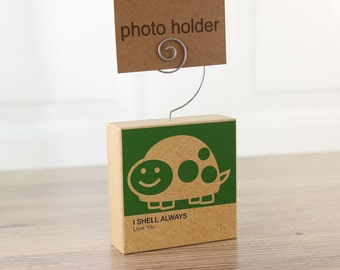Photo Holder Turtle Clever Critter Green