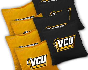 Officially Licensed VCU Rams Cornhole Bags Set of 8 - Top Quality - Regulation Cornhole Bags - Bean Bags