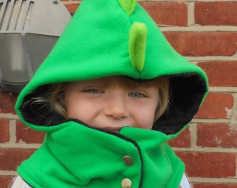 6 months - Adult Dinosaur - Cowl Hood - with Spikes
