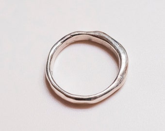 Raw Carved Stacking Ring