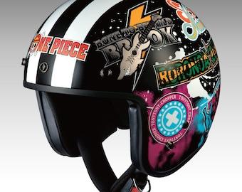 Ogk kabuto Motorcycle Helmet BOB-K Custom paint Anime ONEPIECE Emblem