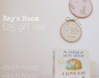 Guess How Much I Love You - Nursery Hoop and Hardboard Book Gift Set
