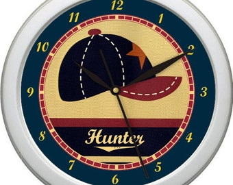 "Little MVP Baseball Cap Sports Personalized 10"" Nursery / Children Room Wall Clock Shower Gift"