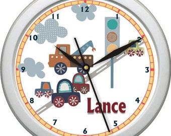 """Little Traveler Personalized 10"""" Nursery Wall Clock"""
