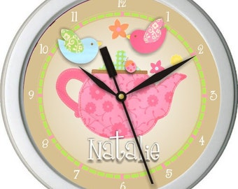 "Lullaby Breeze 2 Personalized 10"" Nursery / Children Wall Clock"