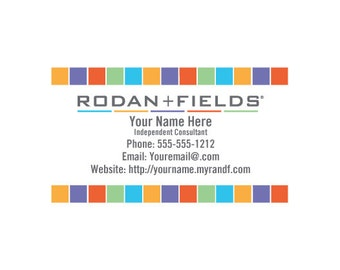 Rodan Fields Full Color Business Cards