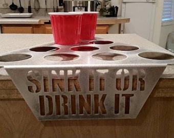 Beer Pong - Sink it or drink it game (Includes 2 racks)
