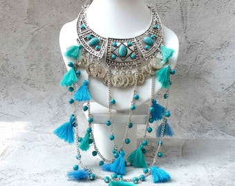 ethnic necklace Peruvian inspiration