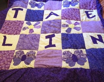 Personalized kids quilts