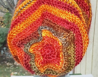 Floral Slouch Hat - Autumn Colors