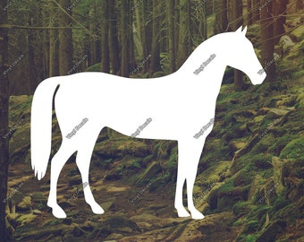 Horse Decal - Horse Vinyl Decal - Horse Sticker - Laptop Decal - Car Decal - Wall Decal - Horse Wall Art - Vinyl Sticker - Bumper Sticker