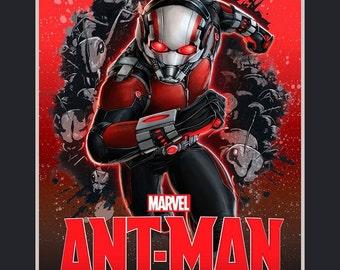 Marvel Antman 100% cotton fabric panel
