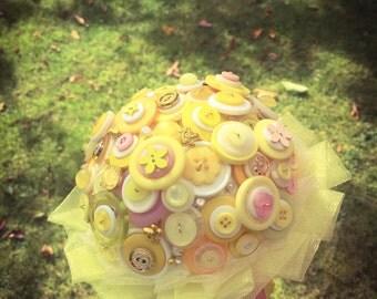 Button bouquet - Yellow Sunshine Bouquet