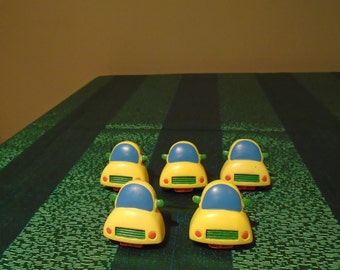 5 yellow car drawer knobs