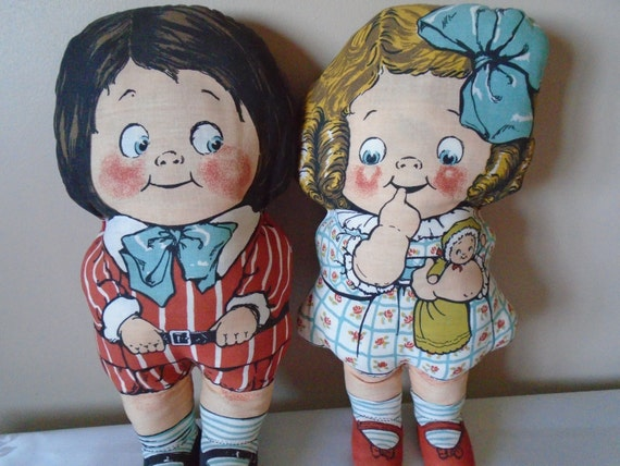 1960 Toys For Boys : Deans s rag knock about toys boy and girl