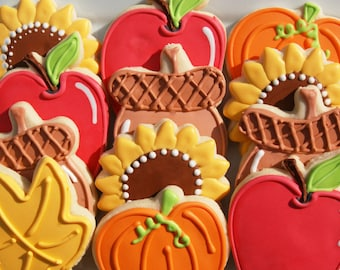 Fall assorted cookies
