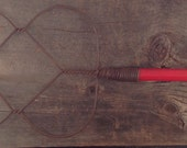 Metal Wire Rug Beater with Red Wooden Handle