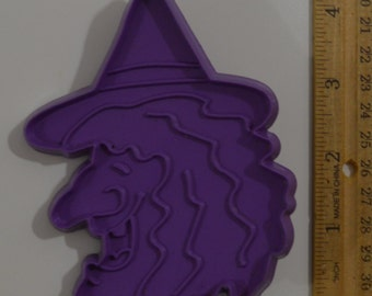 Vintage HALLMARK HALLOWEEN WITCH Cookie Cutter | 1983 4 3/16""