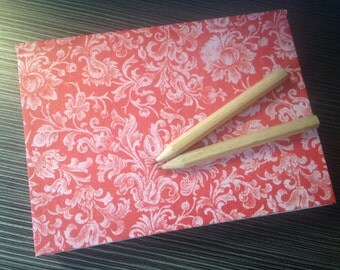 A6 Hand Bound Hand Sewn HardBack Note Book