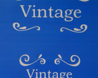 List 1 Assorted Vintage Stencils *Free gift with every order*