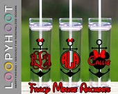 Personalized 16 oz Skinny Acrylic Tumbler--MINNIE ANCHOR