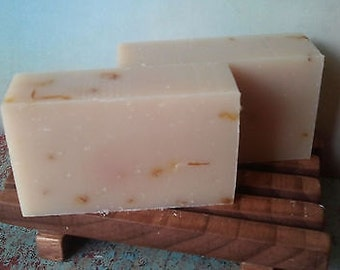 Organic Herbal Bar Soap Pink Grapefruit 4.2oz Vegan Free Shipping!