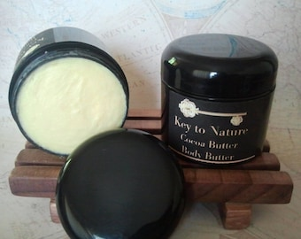 Organic Unrefined Cocoa Butter Whipped Body Butter Vegan No Preservatives Free Shipping!