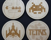 Vintage Games Inspired Coaster Set